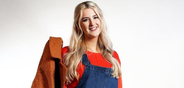 Aoife Walsh with clothes from Pep & Co. Picture: Steve Humphreys