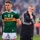 14 September 2019; Kerry manager Peter Keane, centre, alongside selector James Foley and Killian Spillane following the GAA Football All-Ireland Senior Championship Final Replay match between Dublin and Kerry at Croke Park in Dublin. Photo by David Fitzgerald/Sportsfile