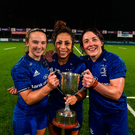 Michelle Claffey, Sene Naoupu and Lindsay Peat. Photo by Eóin Noonan/Sportsfile