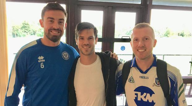 Rochdale's green giants: Eoghan O'Connell, Jimmy Keohane and Stephen Dooley