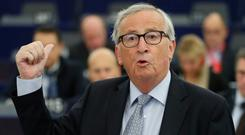 Blunt words: European Commission President Jean-Claude Juncker says Good Friday Agreement must be respected. Photo: AP