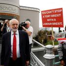 Neutral: Jeremy Corbyn after an interview with the BBC at the Labour Party conference in Brighton. Photo: REUTERS/Peter Nicholls