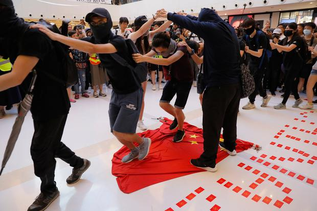 Chinese flag trampled in new Hong Kong protests
