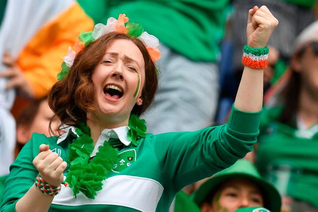 Cheers: Ireland impressed in their first game. PHOTO: CHARLY TRIBELLAU