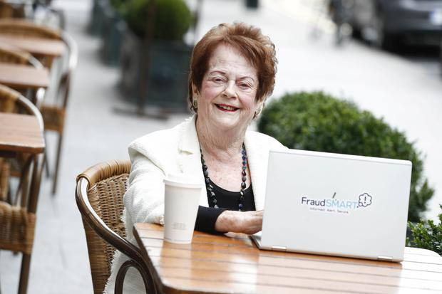 Mary O'Rourke launching Fraud Awareness Week. Picture: Conor McCabe Photography