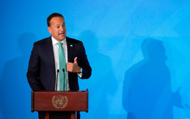Taoiseach Leo Varadkar speaks during the 2019 United Nations Climate Action Summit. Photo: REUTERS/Lucas Jackson
