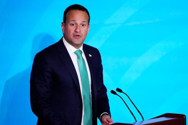Taoiseach Leo Varadkar speaks during the 2019 United Nations Climate Action Summit