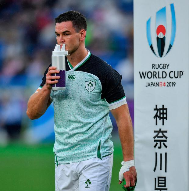 Jonathan Sexton is a doubt for Ireland's clash against Japan