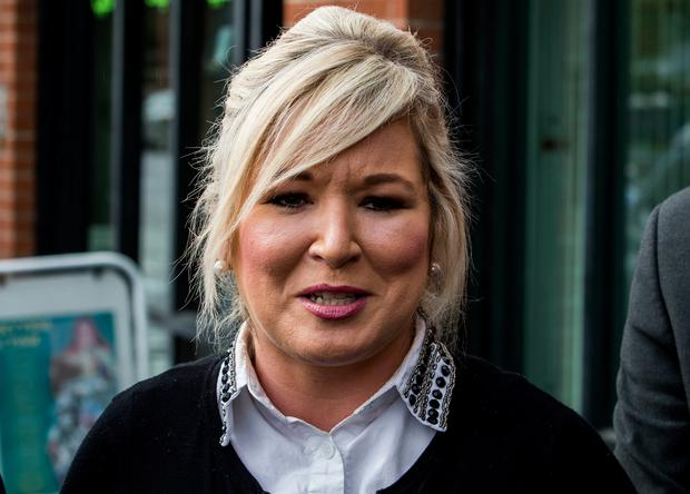 Sinn Fein Vice President Michelle O'Neill outside the party's headquarters in Belfast, as they react to the Supreme Court ruling that suspending Parliament was unlawful. Photo: Liam McBurney/PA Wire