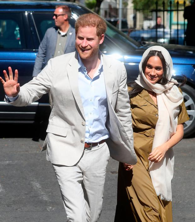 Prince Harry, Duke of Sussex and Meghan, Duchess of Sussex visit Auwal Mosque on Heritage Day during their royal tour of South Africa on September 24, 2019 in Cape Town, South Africa