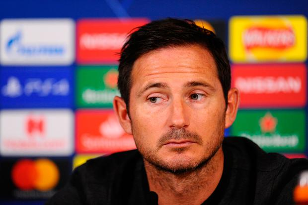 Chelsea manager Frank Lampard. Photo: Getty
