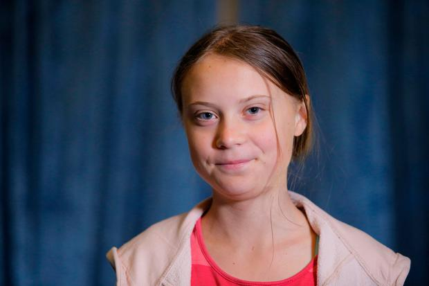 Speech: Greta Thunberg addressed world leaders at the UN. Picture: AP