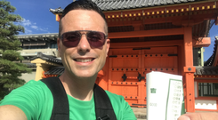 """The fortunes are """"good"""" and green at Sanjusangen-do Temple in Kyoto"""