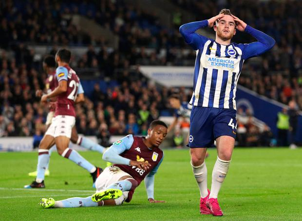 Brighton and Hove Albion's Aaron Connolly