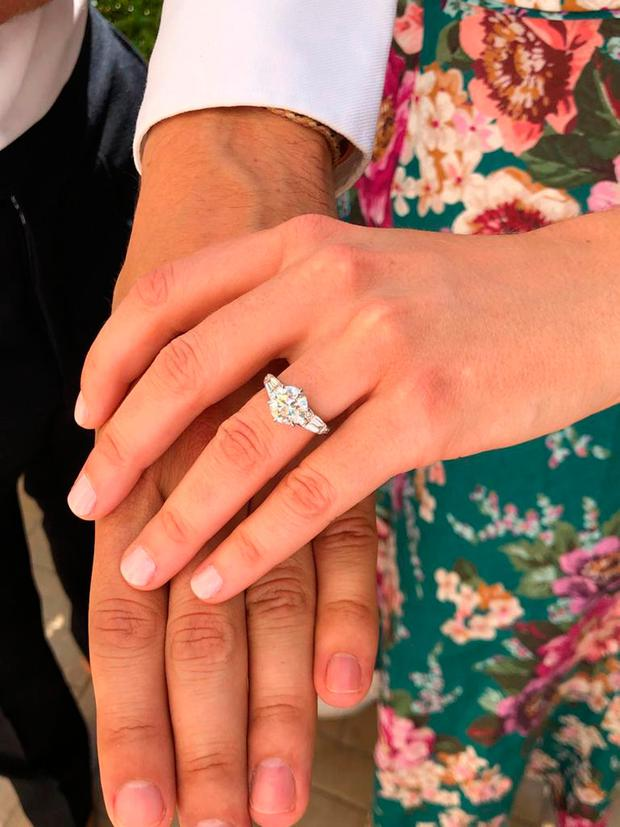 A picture released by Buckingham Palace of Princess Beatrice and Mr Edoardo Mapelli Mozzi, whose engagement has been announced