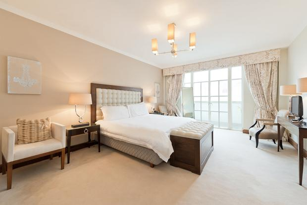 The bedroom with dressing room and ensuite