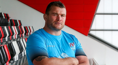 Ulster Rugby's new signing Jack McGrath during an Ulster Rugby Match Briefing ahead of Ulster's opening PRO14 League clash against the Ospreys at Kingspan Stadium on Friday. Photo by John Dickson/Sportsfile