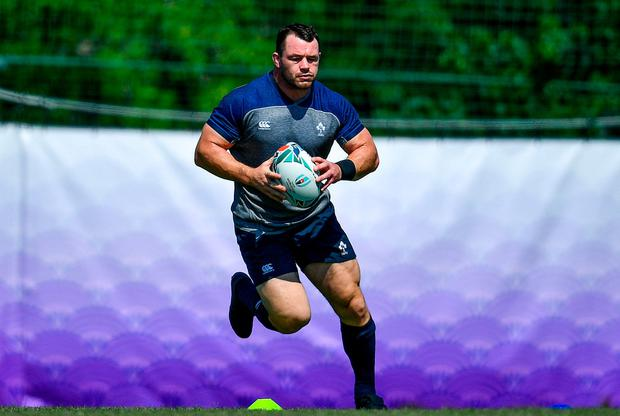Cian Healy pictured during squad training at the Yumeria Sports Grounds in Iwata, Japan. Photo: Brendan Moran/Sportsfile