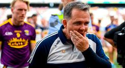 Davy Fitzgerald has committed to stay on as Wexford hurling manager. Photo: Ramsey Cardy/Sportsfile