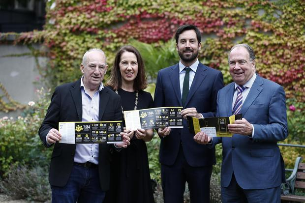 Launch: From left, Jimmy Wynn, volunteer facilitator in Aftercare Services, Councillor Alison Gilliland, Minister for Housing Eoghan Murphy and Sam McGuinness, Dublin Simon Community CEO at the launch of the Dublin Simon Community annual review yesterday. PHOTO: Conor McCabe