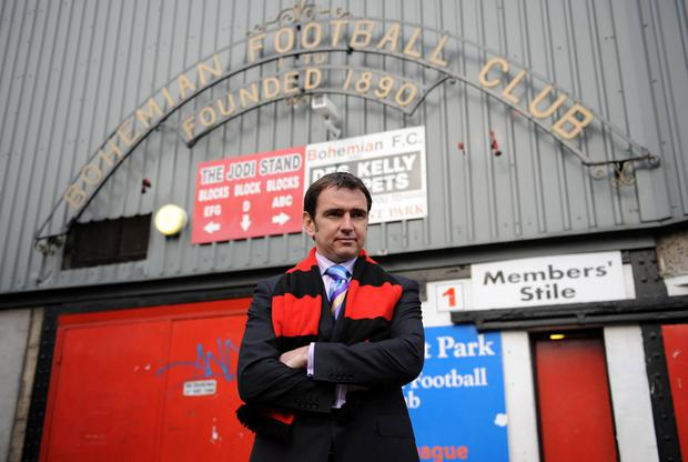 Pat Fenlon when he was appointed Bohs manager back in 2008. Photo: Sportsfile