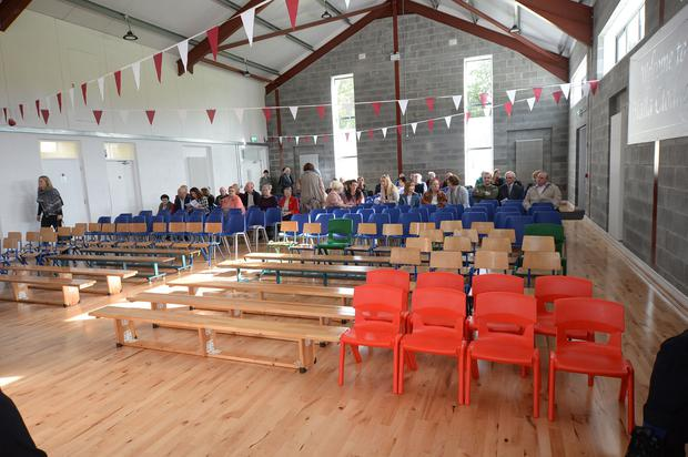 The school hall dedicated to the memory of teacher Clodagh Hawe. Photo: Seamus Farrelly