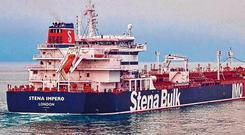 Free: The British oil tanker Stena Impero had been kept in the Iranian port of Bandar Abbas since July. Photo: Stena Bulk/PA Wire