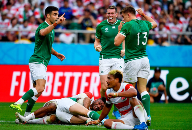 Japan rally to stun favourites Ireland