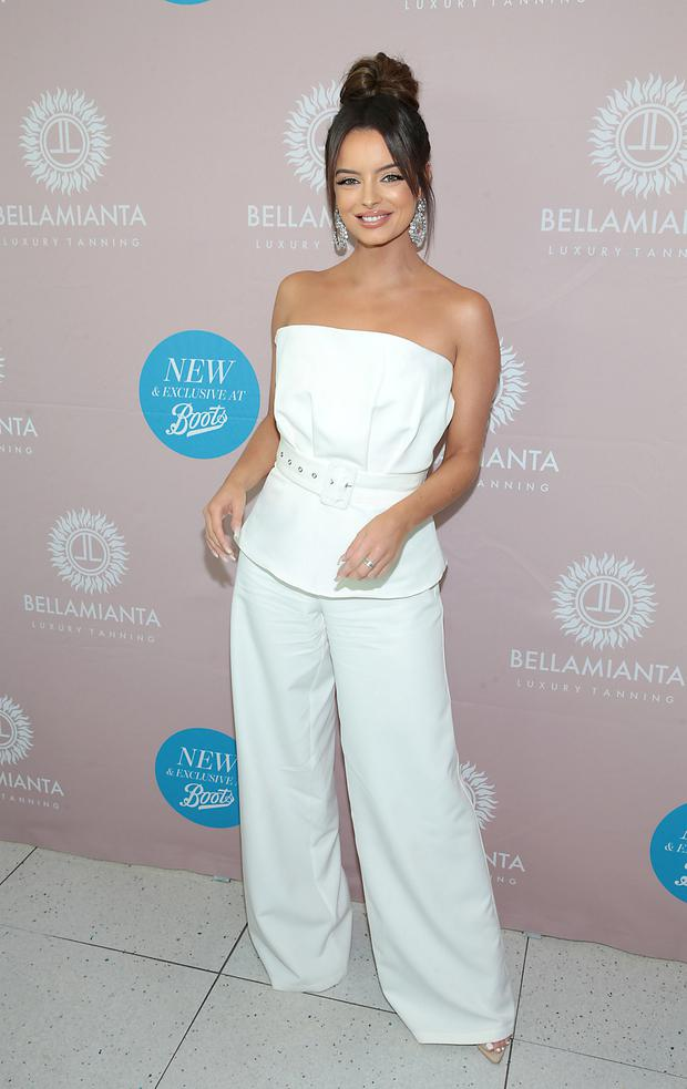 Maura Higgins as she launched the Bellamianta Tan Glow Gorgeous Gift Set at Boots in Liffey Valley,Shopping Centre, Dublin, Pic Brian McEvoy