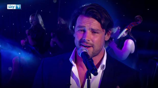 Ben Foden covering John Legend on Sky One's A League of Their Own
