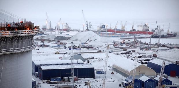 Big producer: Russia's LNG gas field in the Yamal Peninsula