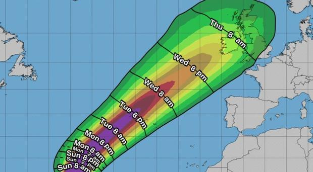 'All hands on deck' at Met Éireann as forecasters track path of Hurricane Lorenzo