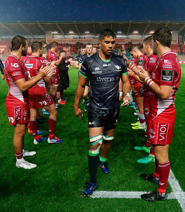 A dejected Jarrad Butler of Connacht following the defeat. Photo: Chris Fairweather/Sportsfile