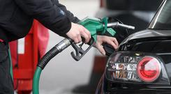 Rising prices in the last few weeks are already placing strain on motorists across the country, according to AA Ireland. (Lewis Whyld/PA)