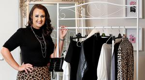 Fashion alchemy: Blogger and stylist Gail Murphy restyles old clothes. Photo: Steve Humphreys
