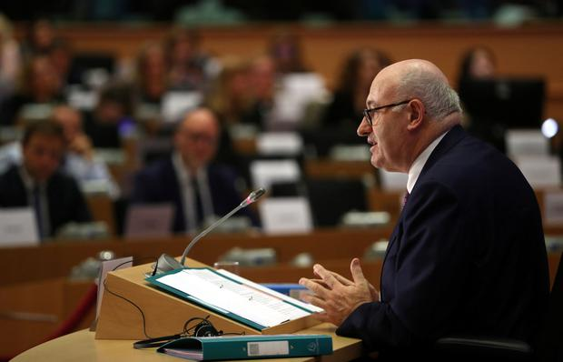 European Trade Commissioner-designate Phil Hogan speaks at his hearing before the European Parliament in Brussels. Photo: REUTERS/Yves Herman