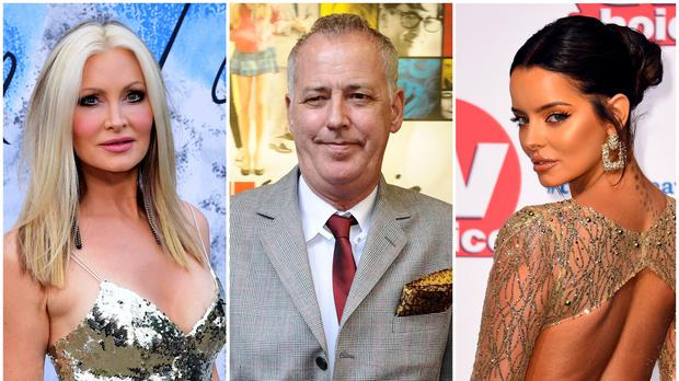 Caprice Bourret, Michael Barrymore and Maura Higgins (PA)
