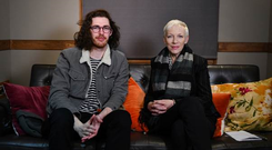 Hozier speaks to Annie Lennox in the first episode of his new Cry Power podcast. PIC: George P Ramsay