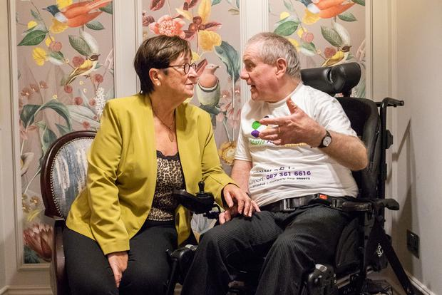 Senator Marie-Louise O'Donnell and Redmond O'Hanlon at the inaugural HCCI conference on International Day of Older Persons. Picture: Naoise Culhane