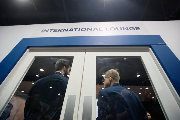 Access to The International Lounge was temporarily restricted at the Conservative Party Conference after a