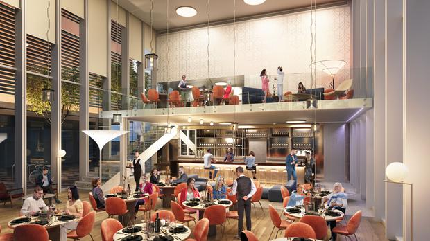 The Glassbox restaurant will be a 3,832 square feet glass box building in The Point Village in Dublin