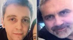 Liam (left) and his father Daniel Poole both went missing in Malaga six months ago Photo credit: Sussex Police/PA Wire