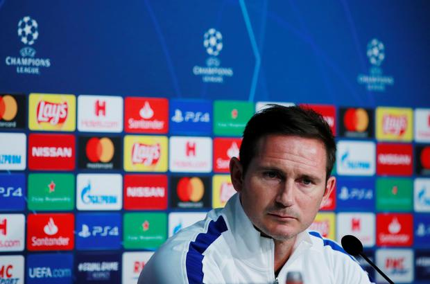 Chelsea manager Frank Lampard speaks during a press conference at the Stade Pierre-Mauroy, Lille. Photo: Reuters/Andrew Couldridge