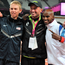 Coach Alberto Salazar with two of his most successful athletes American Galen Rupp (left) and Britain's Mo Farah. Photo: PA
