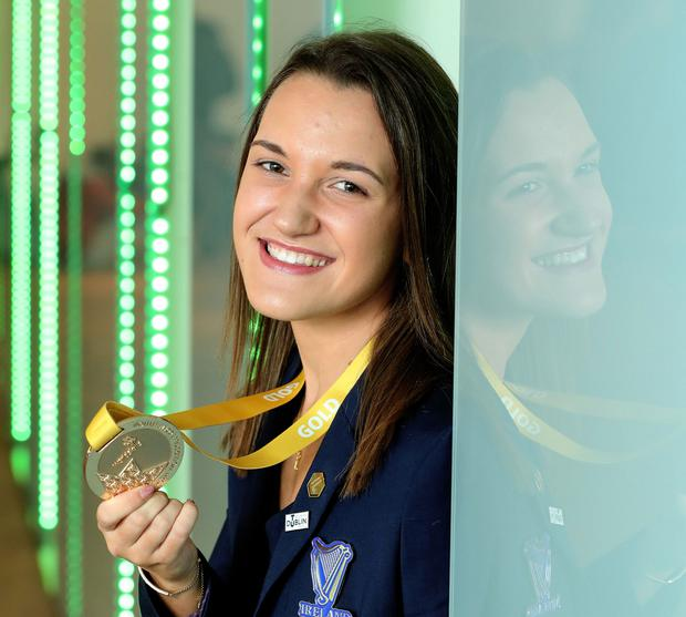 Megan Yeates with her gold medal. Photo: Maxwells