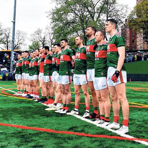 Mayo in New York in May. Photo: Sportsfile