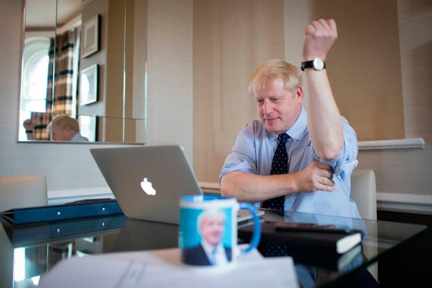 Proposal: Prime Minister Boris Johnson prepares his keynote speech for the Tory conference in Manchester. Photo: PA Wire