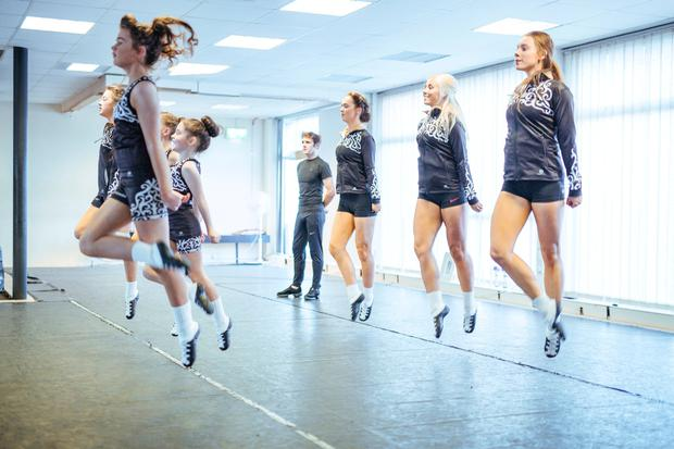 Taking flight: Students at the Holly & Kavanagh Dance School train around the clock. Photo: Kyle Tunney