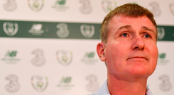 Ireland U21 head coach Stephen Kenny speaks during a squad announcement at FAI Headquarters in Abbotstown, Dublin today. Photo: Seb Daly/Sportsfile