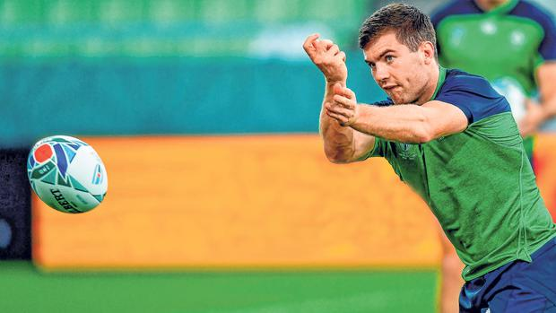 Eyes on the prize: Being a leader in the Leinster dressing-room has helped scrum-half Luke McGrath adjust to less familiar surroundings with Ireland. Photo: Sportsfile